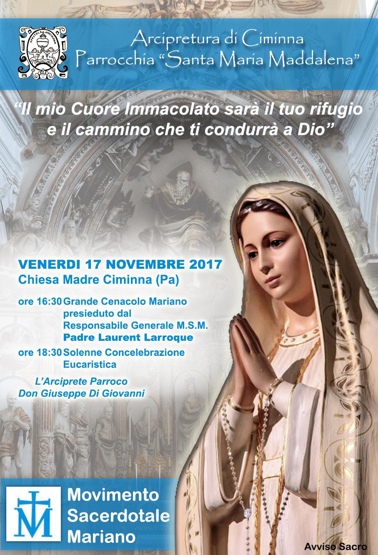 Cenacolo Mariano MSM Ciminna 17 novembre 2017